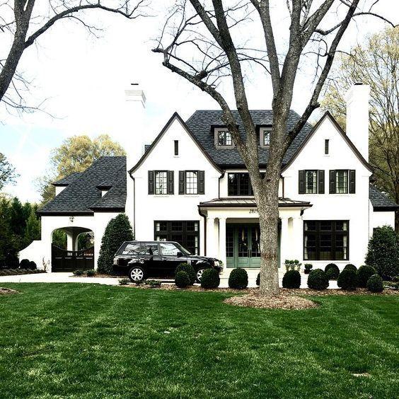 Contemporary Grey House Exterior Waplag Natural Stone Of: สีทาบ้าน เลือกอย่างไร!!! ให้สวยเข้ากับหลังคาบ้าน